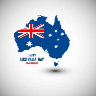 happy-australia-day-card-with-map_1035-1026