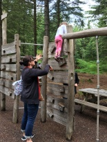 Aunty Ral helping the littlest climb up high :)