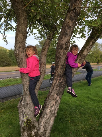 We also climbed trees instead og watching the TV!